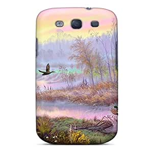 Tpu Shockproof/dirt-proof Colorful Painting Art Cover Case For Galaxy(s3)