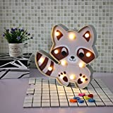 Glintee Coati LED Night Light - Lovely Animal Marquee Sign Battery Operated Bedside Lamp for Children Gifts Home Bedroom Party Decoration (Coati)