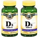 Cheap Spring Valley – Vitamin D-3 5000 IU, Twin Pack 500 Total Softgels (2)