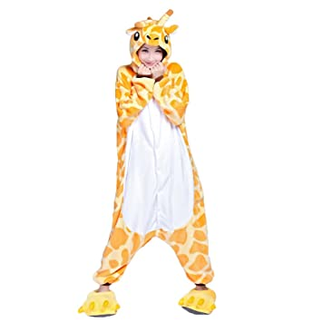 Ferrand Kigurumi Pijamas Unisexo Adulto Traje Disfraz Animal Adulto Animal Pyjamas Jirafa Con Zapatillas