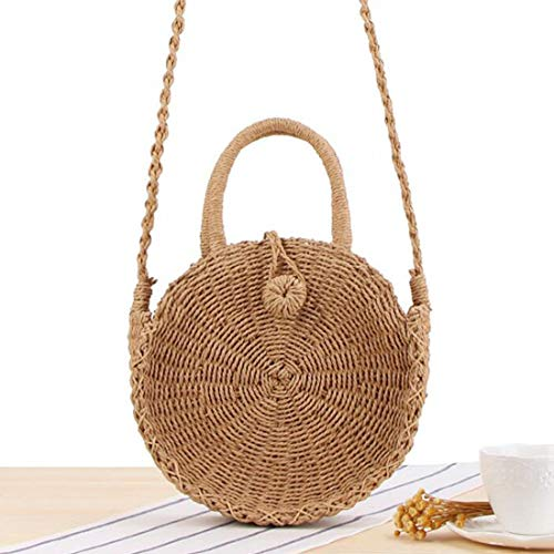 à pour Main tissé Purse Hungrybubble Sac en tissé Pochette la Size Main Femme Boho Bag Color 1 Small 3 à rotin FA6IFqw