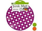 Bulk Buys Decorative Round Sink Mat, Assorted Colors - 12-PK