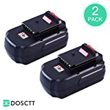 Dosctt PC18B Replace for Porter Cable 18V Battery 3.0Ah NiMh PCC489N PC18B Cordless Tools Drill Batteries PC18BLEX PCMVC PCXMVC 2 Pack