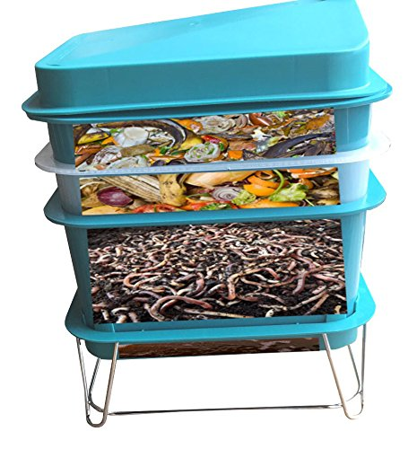 4-Tray Worm Factory Farm Compost Small Compact Bin Set by Quest (Image #6)