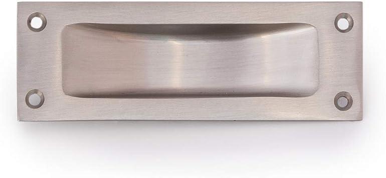 Antikas - tirador puerta corredera tirador muebles diseño de concha - tirador de níquel cepillado mate - mangos para puertas: Amazon.es: Bricolaje y herramientas