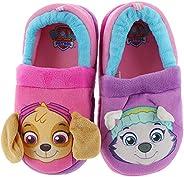 Josmo Kids PAW Patrol Girls' Skye and Everest Plush Slippers - Fuchsia/Pink/Purple - Sizes 5-12 (Todd