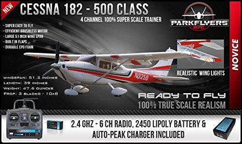 UPC 609728697518, Cessna 182 Super Class 1/5 Scale RTF RC Airplane w/6 Chan. 2.4 GHZ Radio