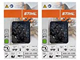 Stihl 2 Pack 26RM3 68 Drive Links Rapid Micro Chainsaw Chain 18' .325 Pitch .063 Gauge for MS 250