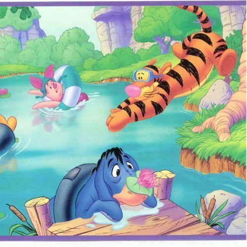 Disney Winnie the Pooh and Friends Swimming Fun Wall Border ()