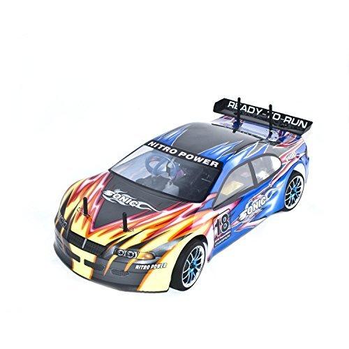 ALEKO RCC94102BLUE 4WD Nitro Powered On-Road Racing Car (1:10 (10 Nitro Gas Car)