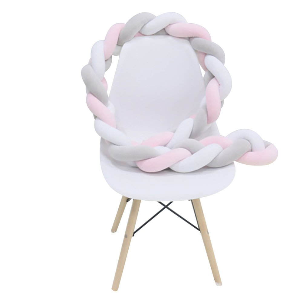 Zehui Bumper Knotted Braided Plush Nursery Cradle Baby Accessories Newborn Gift