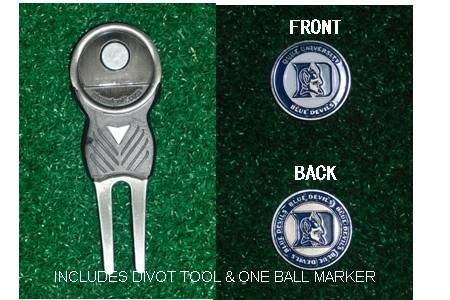 Duke University Golf Divot Tool w/ One Double Sided Ball Marker