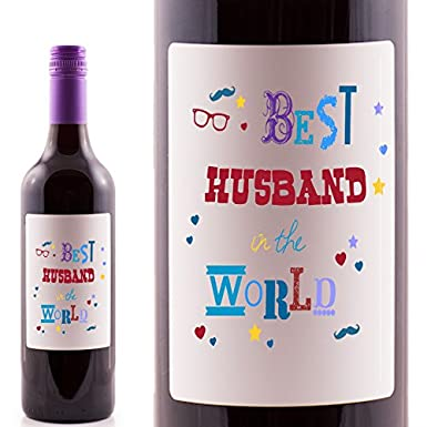 QuotBest Husband In The Worldquot Merlot Red Wine Gift