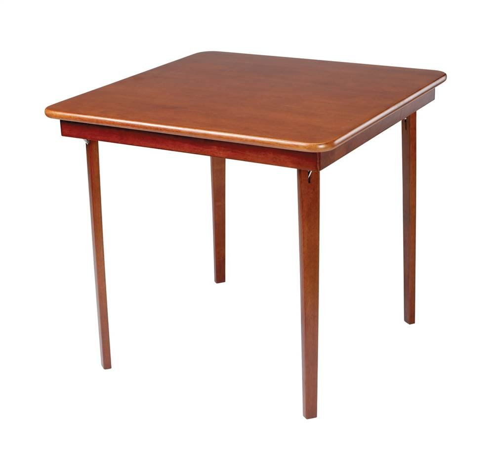 Amazon.com: Stakmore Straight Edge Folding Card Table Finish, Fruitwood:  Kitchen U0026 Dining