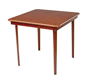 MECO 0056.00791 Straight Edge Folding Card Table, Cherry