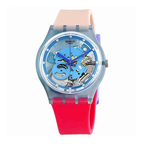 Swatch Varigotti Transparent Dial Ladies Watch GL118 (Plastic Watch Transparent)