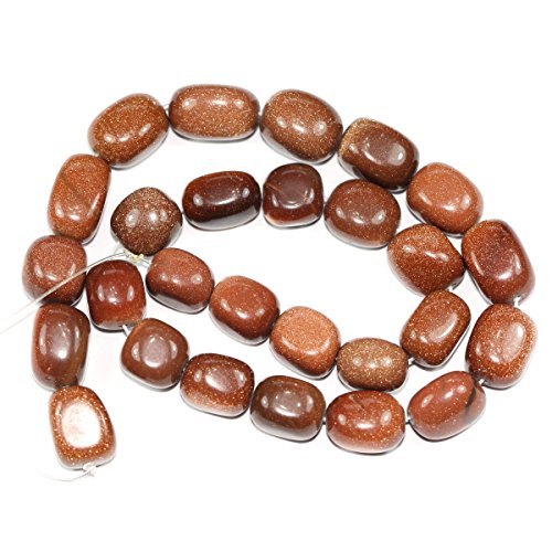 (Top Quality Natural Gold Sand Gemstones Smooth Round Nugget Loose Beads ~13x10mm beads (~16