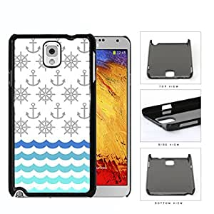 Ship Captain's Wheel And Anchor Pattern Hard Plastic Snap On Cell Phone Case Samsung Galaxy Note 3 III N9000 N9002 N9005