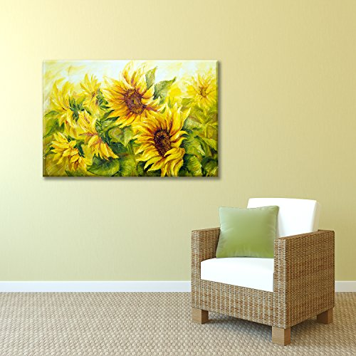 Sunflowers in Oil Painting Style Wall Decor ation