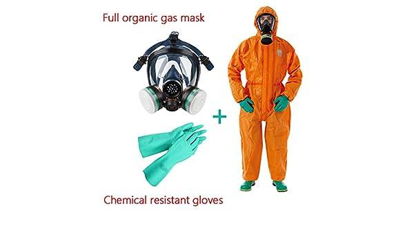 Traje De Protección Química Siamés con Tapa Resistente Al Ácido Y ...