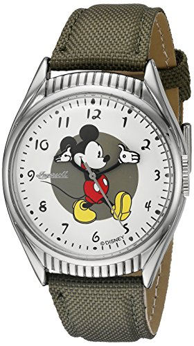 Ingersoll Mickey Mouse Men's IND 26510 Ingersoll Disney Mickey Mouse Moving Arms Analog Display Quartz Green Watch