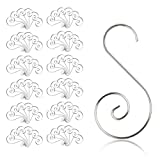 KAKOO Ornament Hooks, 100pcs Silver Christmas S-Shaped Hooks Ornament Hangers for Party Christmas Balls Christmas Tree Decoration