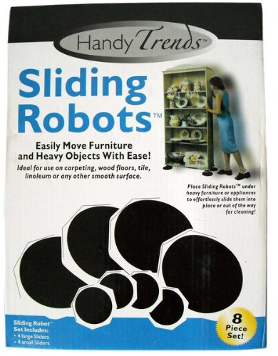 Sliding Robots Furniture Sliders 8 Piece Set - 4 Large, 4 Small (Sliding Robots compare prices)
