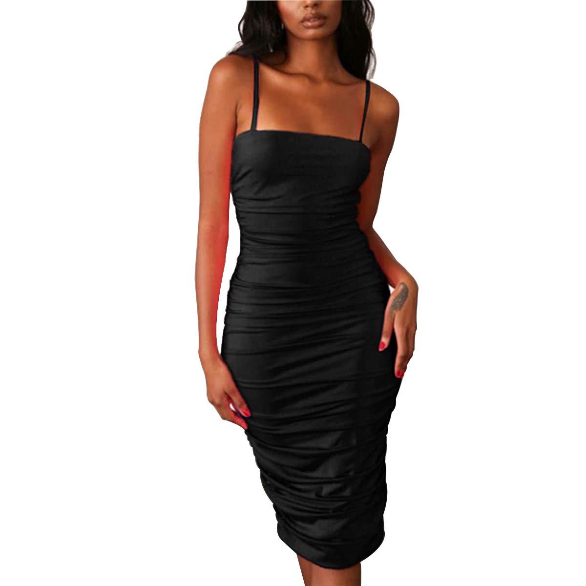a69c764a46 LUFENG Women s Long Sleeve High Neck Zipper Bodycon Slim Fit Dress at  Amazon Women s Clothing store