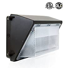 BWL 60W Led Wall Pack Light Photocell, 5000K Daylight White,6600Lumen, Lifetime 50000H, Ip65 Waterproof Security Area Lighting,5 Years Warranty