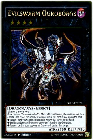 Yu-Gi-Oh! - Evilswarm Ouroboros (PGL3-EN072) - Premium Gold: Infinite Gold - 1st Edition - Gold Rare (The Best Xyz Monsters)