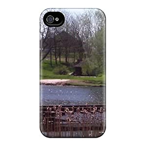 For LESH Iphone Protective Case, High Quality For Iphone 4/4s Tracks Over Pond Skin Case Cover