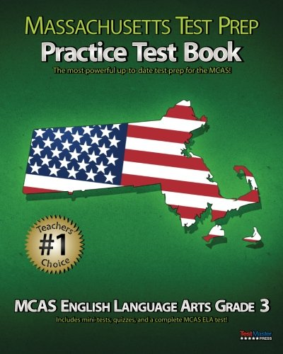 MASSACHUSETTS TEST PREP Practice Test Book MCAS English Language ...