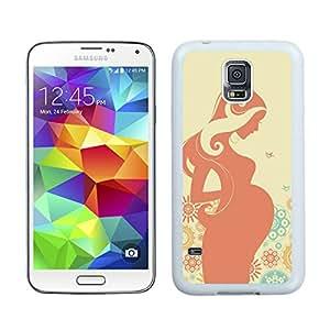 Unique And Antiskid Designed Cover Case For Samsung Galaxy S5 I9600 G900a G900v G900p G900t G900w With Pregnant Art White Phone Case