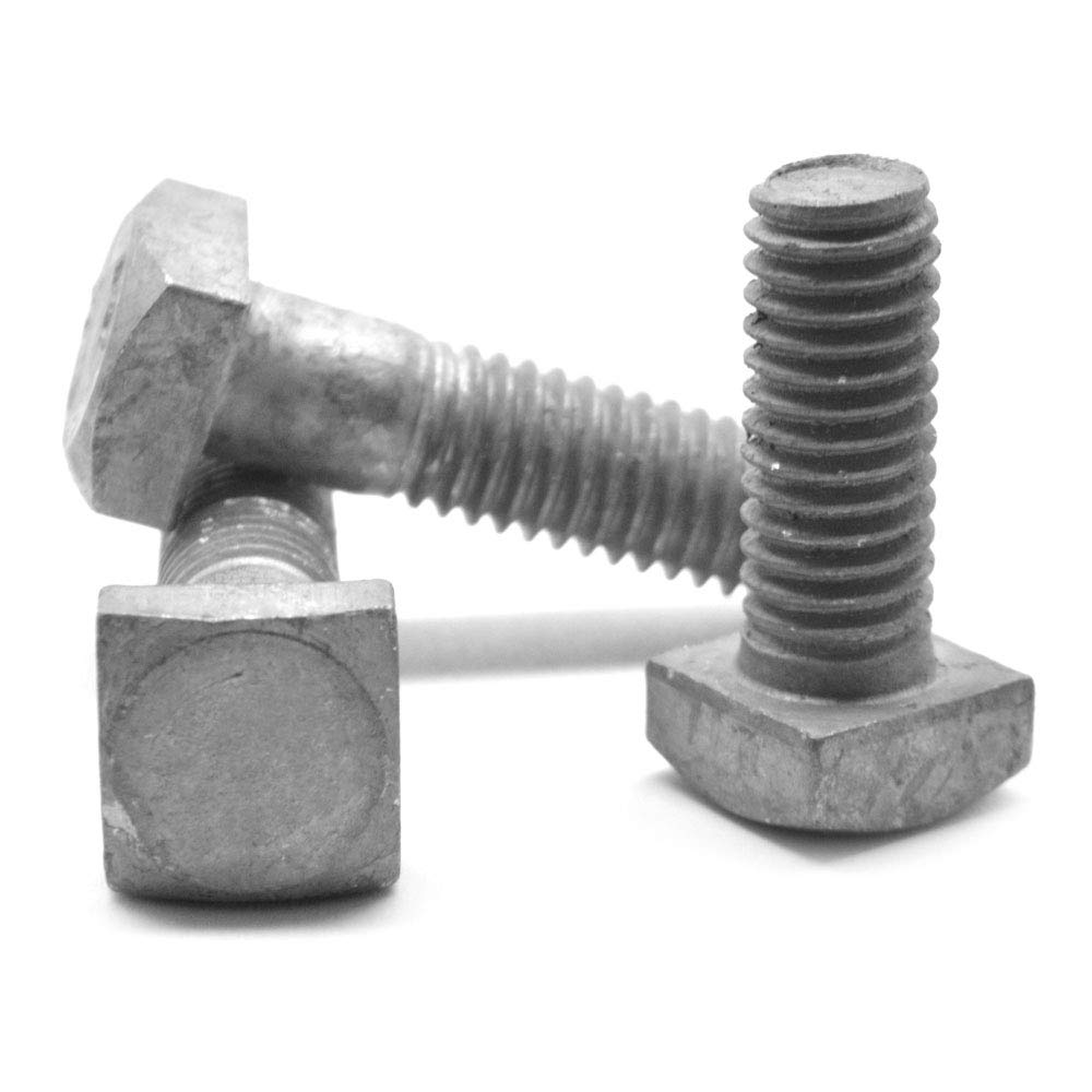5/16''-18 x 1 1/4'' A307 Grade A Square Head Machine Bolt Low Carbon Steel Hot Dip Galvanized Pk 25 by ASMC Industrial