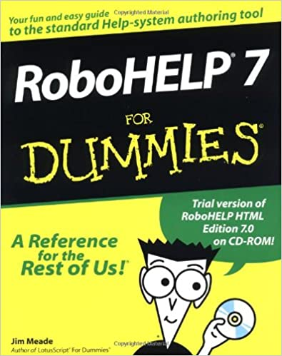 robohelp 7 for dummies jim meade jorgen s lien 9780764505607