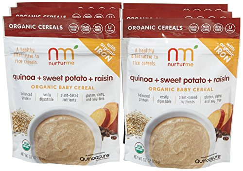 NurturMe Baby Cereal-Quinoa, Raisin and Sweet Potato-3.7 Ounces-6 Pack