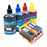 CISinks Refillable Ink Cartridge Kit with Ink Bottle Set for HP 934 935 Officejet Pro 6230 6830 6835 Officejet 6812 6815 6820 (HP934 / HP935)