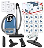 Miele Complete C2 Hard Floor Canister HEPA Vacuum Cleaner + SBB400-3 Parquet Twister XL Floor Brush Bundle Includes Miele Performance Pack 16 Type GN AirClean Genuine FilterBags + Genuine HEPA Filter