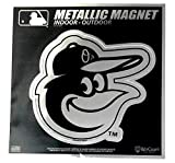 """Stockdale Baltimore Orioles 6"""" Metallic Magnet Silver Style Die Cut Auto Home Baseball"""