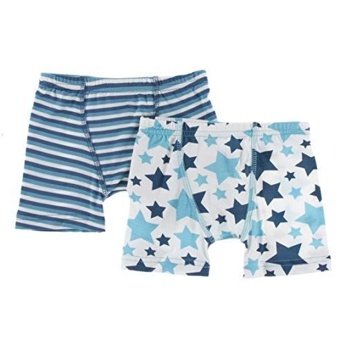Confetti Stripe (KicKee Pants Little Boys Boxer Briefs Set (Set of 2), Confetti Anniversary Stripe & Confetti Star, 2T/3T)