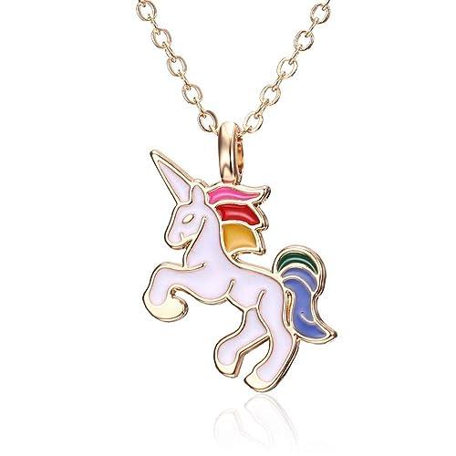 super popolare 74a2f 499e9 Bianco - Collana - Ciondolo - Unicorno - Animale - Cavallo ...