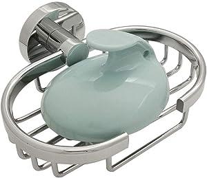 HUAERTE Soap Dish,Aluminium Soap Holder for Shower with Draining Tray,Soap Saver for Bathtub,Sponge Holder for Kitchen Sink