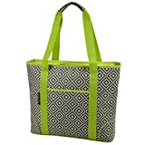 Picnic at Ascot Extra Large Insulated Cooler Bag, Granite Grey/Green