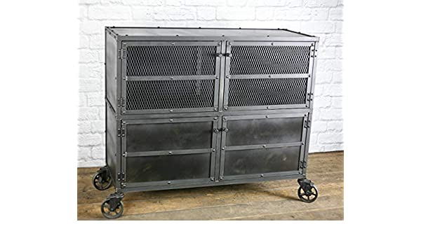 Vintage Bar Cart >> Amazon Com Modern Industrial Bar Cart Rustic Liquor