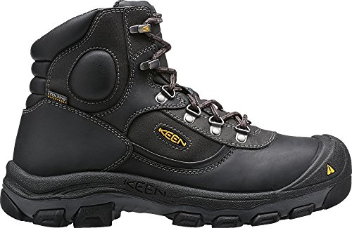 KEEN Utility Men's Leavenworth Internal Met 6 inch Work Boot, Black, 11 D US by KEEN Utility