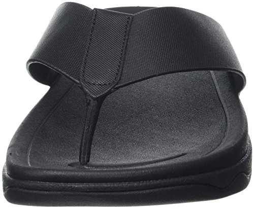 Fitflop a Leather Surfer Nero Aperta Punta Sandali Black Uomo qw6watr
