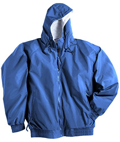 Tri-Mountain 3600 Men's Bay Watch Water Resistant Hooded Jacket Royal 2XLT (2xlt Trench Coat)