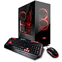 iBUYPOWER AD8400KI Gaming Desktop Computer, Intel Core i7-8700K 3.70GHz, 16GB RAM, 240GB SSD + 3TB HDD, NVIDIA GeForce GTX 1080 8GB, Windows 10 Home