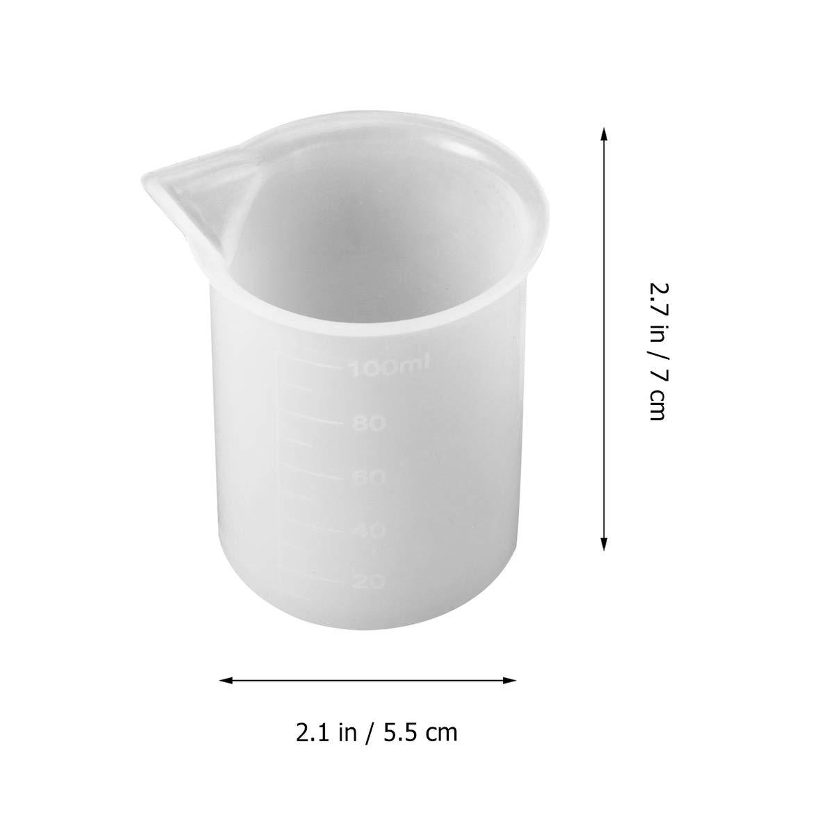 Milisten 16er Silikon Messbecher Silikonbecher zum Mischen von Epoxidharz-Farbflecken
