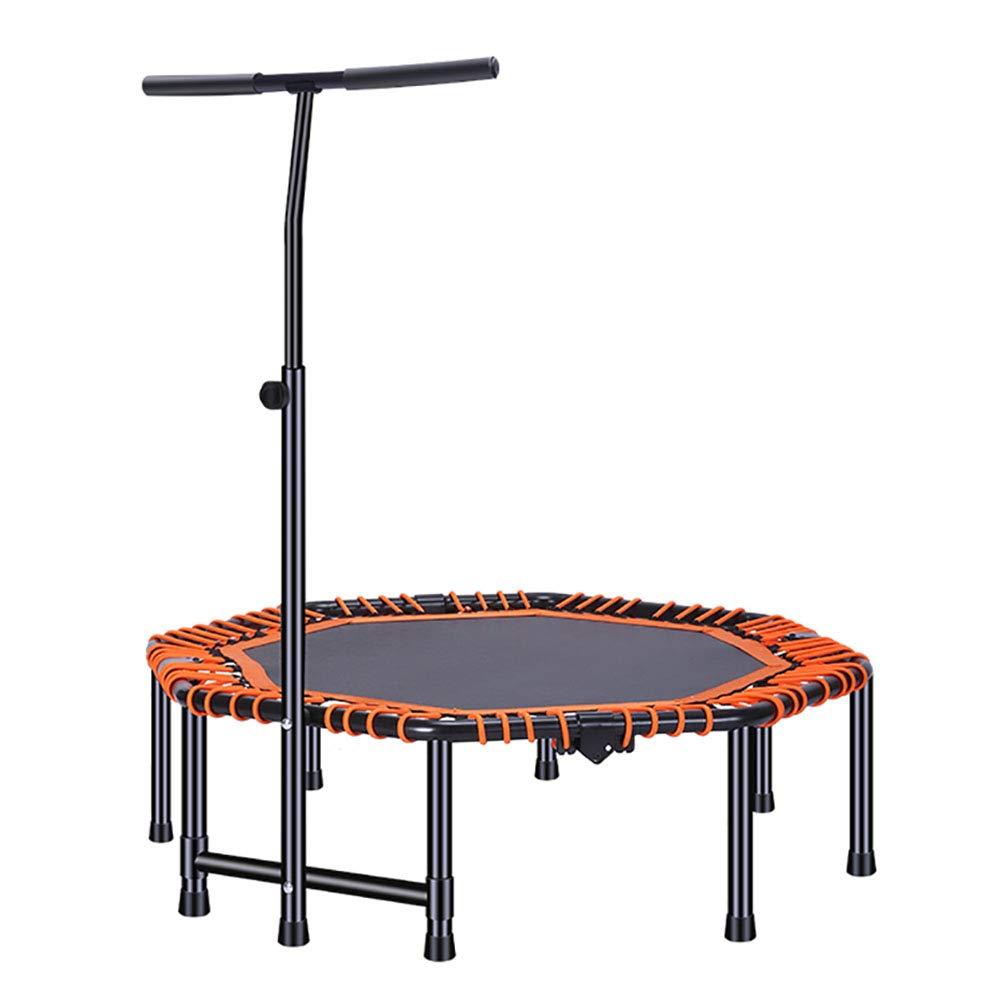 Trampolin Faltendes 48-Zoll-Fitness verstellbarem Griff für Kinder oder Erwachsene, Übung Rebounder Workout Cardio Portable Jumper Trampette